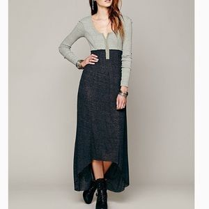 Free People FP Beach Got You Hooked Maxi Dress S
